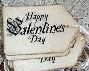 Happy Valentines Day  Gift Tags Set of 8