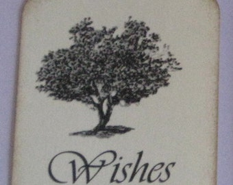 25 Wishes Gift Tags with Tree Made to Order Weddings Birthdays Showers