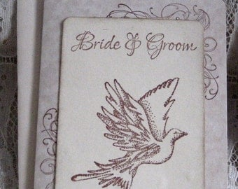 Bride & Groom  Wedding Day Card
