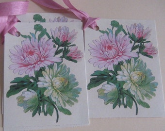 Larger Gift Tags with Flowers