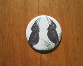 Little Crows Pocket Mirror and Handmade Pouch