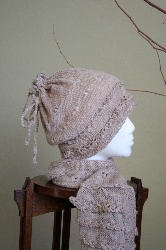 Crochet Pattern Hat Scarf Combo : PDF Pattern: Sand Prints Scarf & Hat Combination of by DanDoh