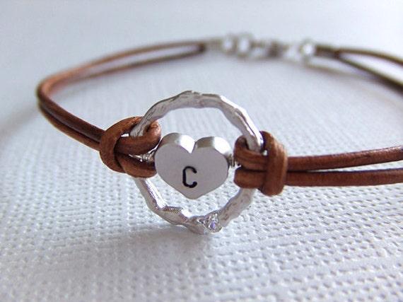 Eternity of the Heart Jewelry Bracelet - Personalized Jewelry - Silver Plated Bracelet