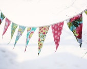 RESERVED for meghan777 - Amy Butler Soul Blossoms Fabric Bunting