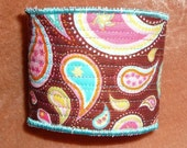 Retro Paisley Hand Made Quilted Coffee Cuff
