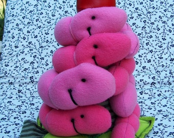 SALE - Valentine - Valentines day gift - Wiggles Worms - Toy - Plush - Ring Stacker