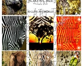 ACEO ATC Backgrounds Safari Land Set of eight Digital Collage Sheet  Altered Art For Card Making Scrapbooking And Journals