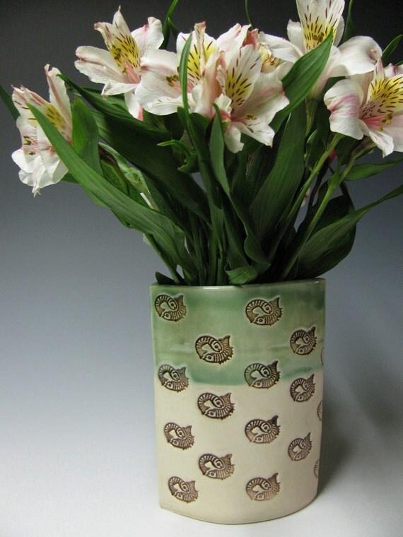 Pisces fish pod shaped vase