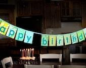PATTERN Happy Birthday Fabric Banner PDF format