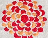 Dahlia  - Machine Embroidery Designs, Electronic Design you stitch yourself