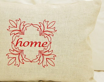 SALE Home Linen Pillow Cover 12x16 inch