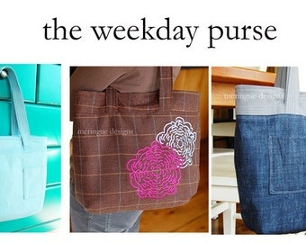 Weekday Purse Sewing Pattern PDF