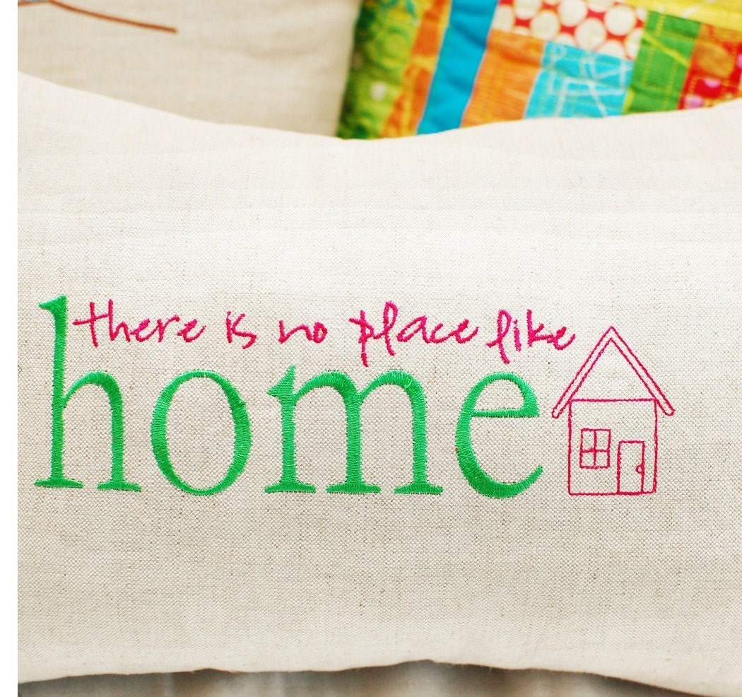No Place Like Home Machine Embroidery Design