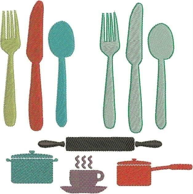 Kitchen Items Machine Embroidery Designs