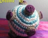 Katamari Magnet Ball - Purple, Blue, White, Silver Amigurumi Crochet