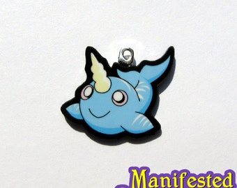Narwhal Charm - Necklace or Phone