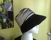 Sun Hat Grass B and W