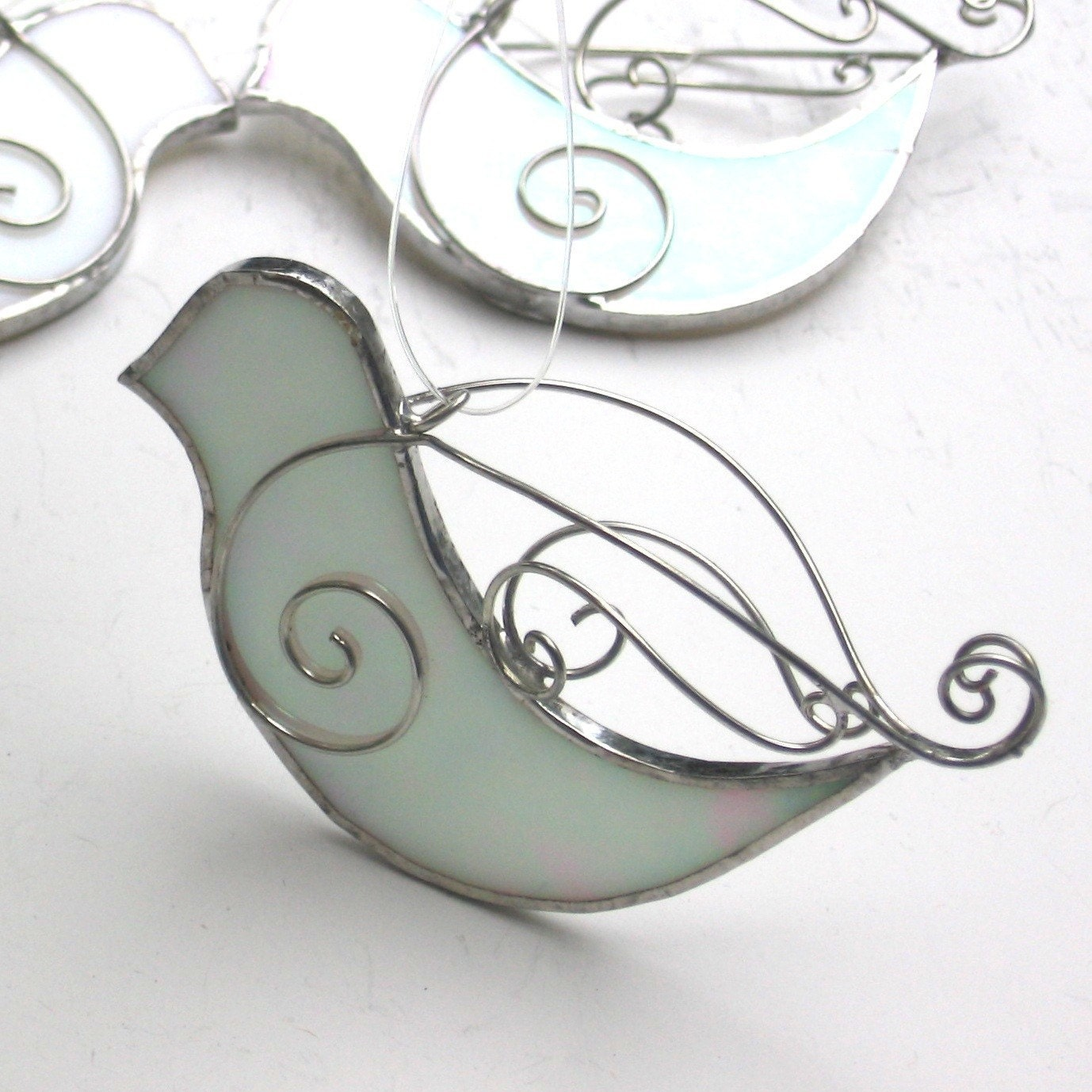 Peace Dove 3D Stained Glass Ornament by katiediditglass on ...