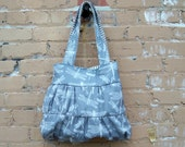 Grey Dragonfly Large Gathered Market Tote - - 2 pockets - - Key Fob - - Magnetic Snap