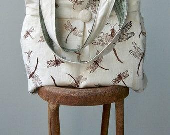 Dragonfly Diaper Bag, Bird, Sage, Extra Large, 6 Pockets