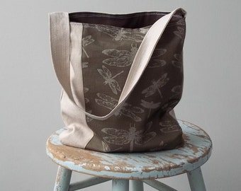 Linen Dragonfly Bag - 2 Pockets