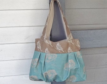 Robins Egg Blue Shoulder Bag - Camelias and Blackbirds