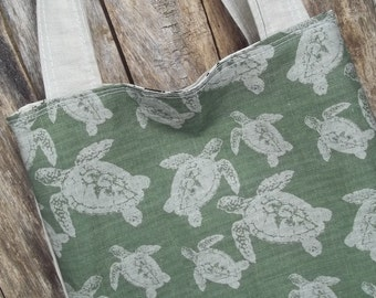Loggerhead Turtle Bag - Linen - Cotton - 2 Pockets