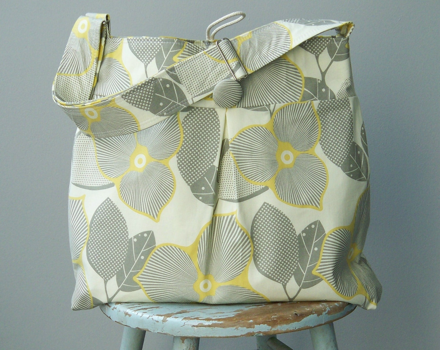 Blue Grey Diaper Bag Retro Scooters 6 Pockets by retrofied on Etsy