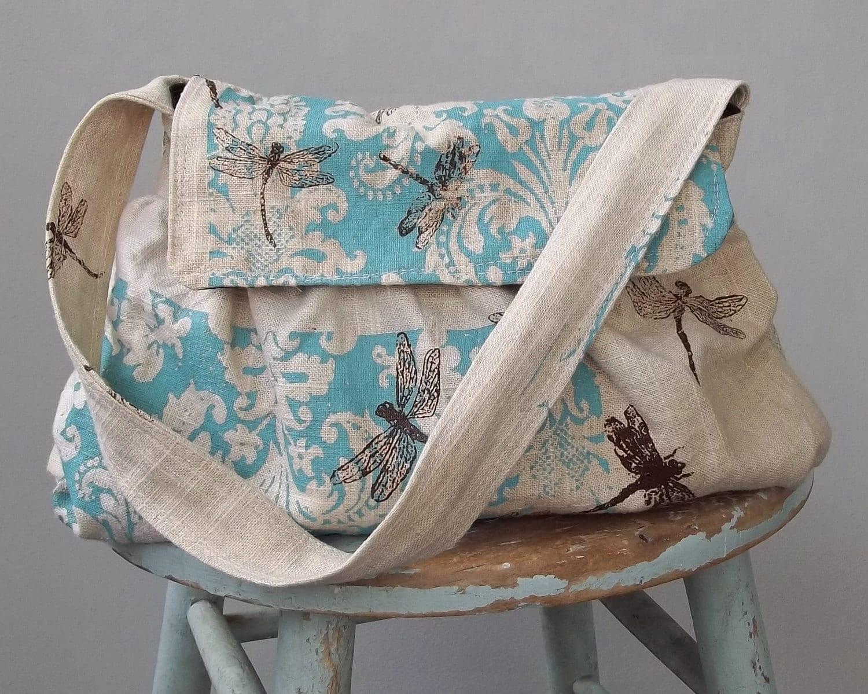 Dragonfly Shoulder Bag 3 Pockets Key Fob