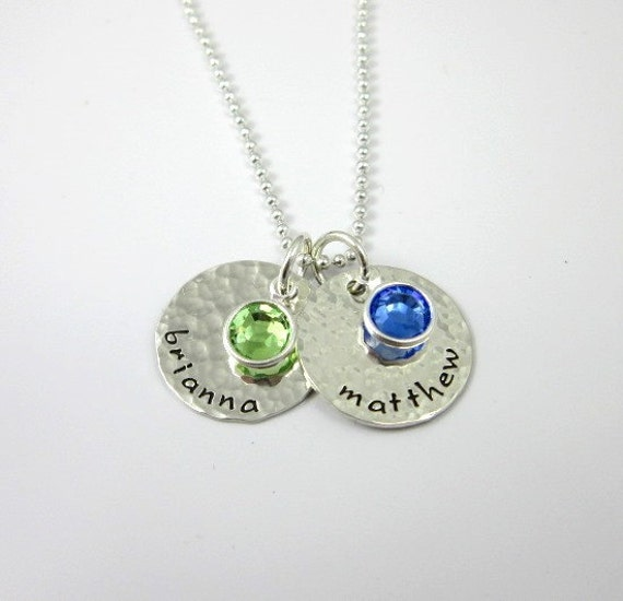 mothers birthstone necklace sted by