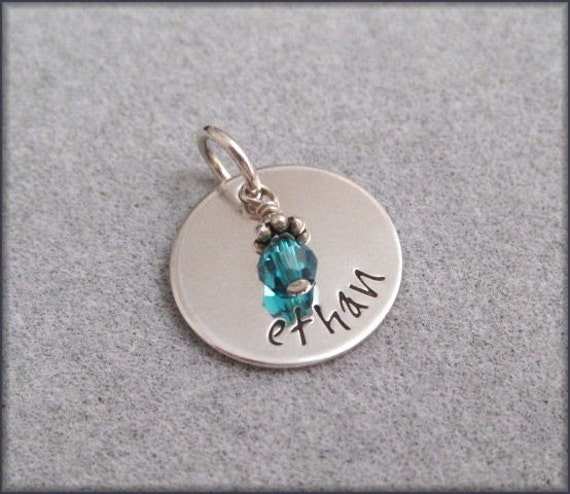 Personalized Charm - Hand Stamped Sterling Silver - Name Charm - Add on