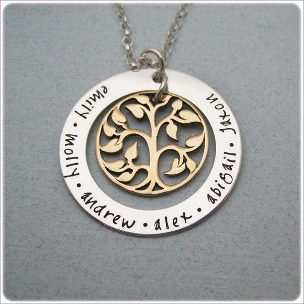 sted family tree necklace personalized jewelry for