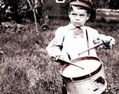 YAnkee Doodle Dandy Boy Plays Drum 1900 photograph