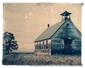 Rock Hill One Room School House Oregon Polaroid Transfer Photography