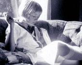 Sara Rose Sewing in Window Light Photographic fine art Print