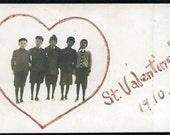 vintage photo RPPC St VAlentine 1910