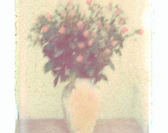 Baby Pink Roses Bouquet Transfer Color Photograph PRint