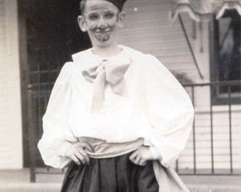 Teen Boy in Costume of Scaramouche Pirate original vintage photo