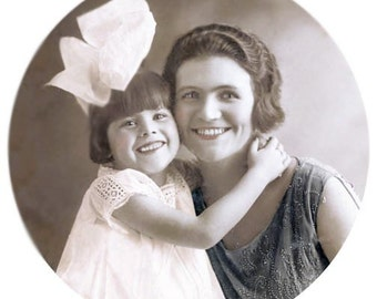 Darla Loves Mommy Tinted Fine ARt Vintage photographic print