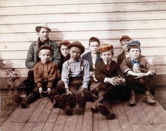 The Neighborhood Boys 1909 New YOrk fine Art Photograph
