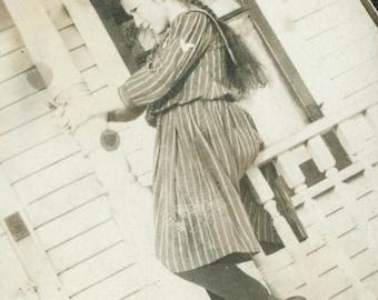 Long Hair Girl Sailor DRESs Porch Play
