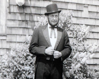 Tall Man as Irish St Patricks Day Leprechaun vintage photo