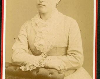 Giacomo Brogi Italy photographer CDV Lady Rare Portrait carte de viste