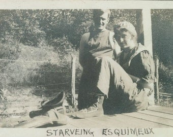 vintage photo Blanche Underwood swimsuit on dock starveing esquimeux