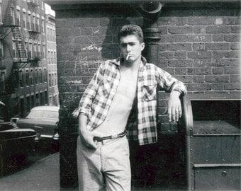 He Idolized James Dean 1958 Vintage Photo Print