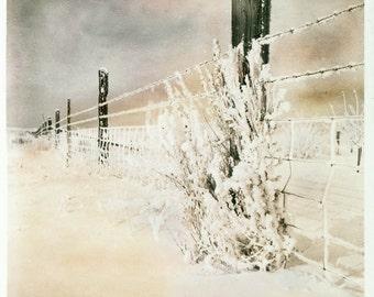 Photograph Print Snow Landscape on the Farm