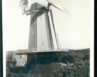 vintage photo windmill