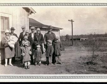 Big Family San Antonio 1930s Texas