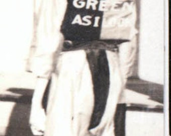 vintage photo 1915 Teen in costume I aint as Green as I look