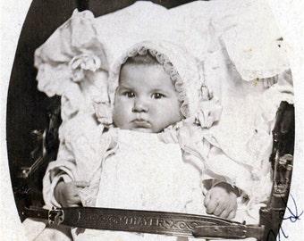 vintage photo Lucille BAby Girl Vintage Photo Postcard
